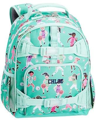 Pottery Barn Kids Small Backpack, Mackenzie Aqua Sporty Girls