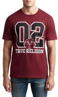 True Religion MENS 02 VARSITY BUDDHA GRAPHIC TEE