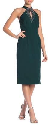 JS Boutique Embellished Mock Neck Dress