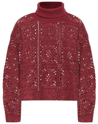 See by Chloe Lace turtleneck sweater