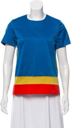 Celine Colorblock Satin Top