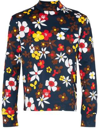 Prada floral print cotton top
