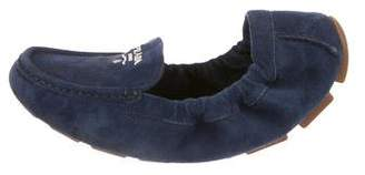 Prada Suede Round-Toe Loafers 70c149f10
