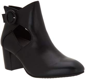 Earth Cut Out Heeled Bootie - Corinth