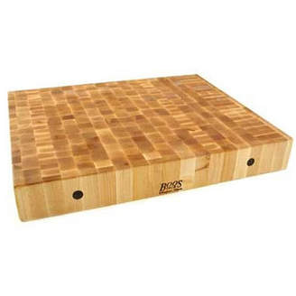 John Boos BoosBlock Rectangular Maple Butcher Block Cutting Board