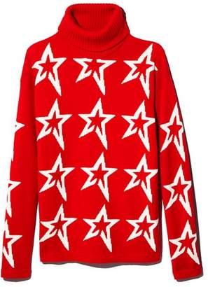 Bloomingdale's Perfect Moment Merino Wool Turtleneck Star Sweater