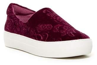 J/Slides Angelica Crushed Velvet Slip-On Sneaker