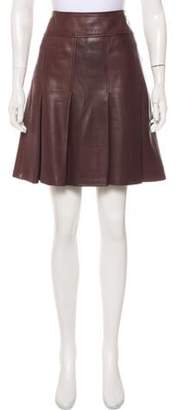 Burberry Leather Pleated Skirt Brown Leather Pleated Skirt