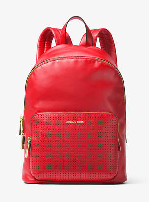 Michael Kors Wythe Large Perforated Leather Backpack