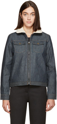 A.P.C. Indigo Denim Jacket $385 thestylecure.com