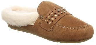 BearPaw Tilley Suede Genuine Sheepskin Footbed Slipper