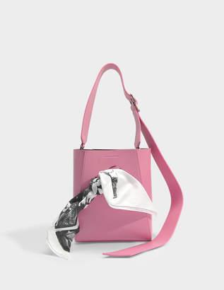 Calvin Klein Small Bucket Bandana Bag in Rose Calf