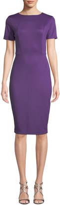 Alexia Admor French Design Short-Sleeve Scuba-Crepe Sheath Dress