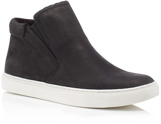 Kenneth Cole Kalvin Nubuck Leather Slip On High Top Sneakers $130 thestylecure.com