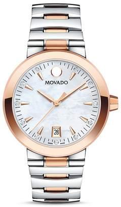Movado Vizio Diamond Two-Tone Watch, 34mm