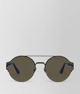 Bottega Veneta SUNGLASSES IN BLACK METAL, LIGHT GREY LENSES
