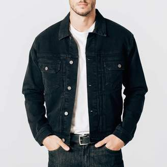 DSTLD Mens Denim Jacket in Worn Black
