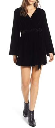 Treasure & Bond Velvet Faux Wrap Minidress