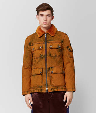 Bottega Veneta ORANGE DENIM/SHEARLING JACKET