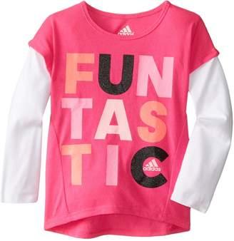 adidas Little Girls' Long Sleeve Graphic Tee Shirt
