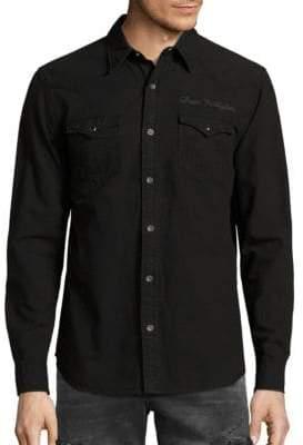 True Religion Triple Needle Cotton Shirt