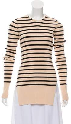 Celine Striped Knit Top black Striped Knit Top
