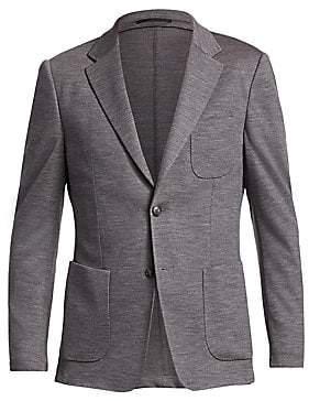 Ermenegildo Zegna Men's Wash & Go Single-Breasted Wool Jacket