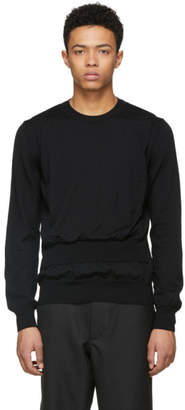 Comme des Garcons Black Wool Intarsia Sweater