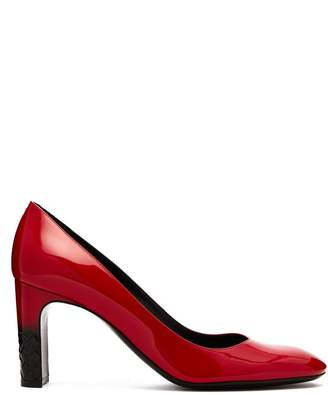 Bottega Veneta Intrecciato patent leather pumps