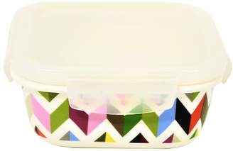 French Bull Square Ziggy Porcelain Food Container