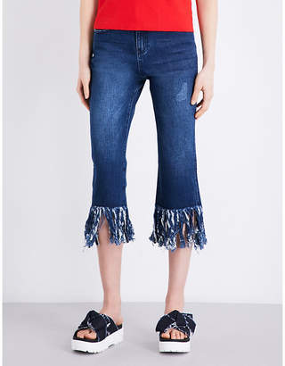 Mo&Co. Raw-hem straight-leg jeans