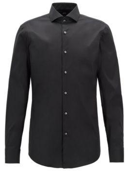 BOSS Hugo Cotton Dress Shirt Tailoring, Slim Fit Jason 15 Black