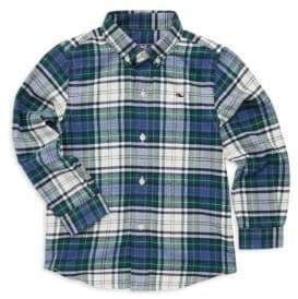 Vineyard Vines Toddler's, Little Boy's& Boy's Hayward Plaid Shirt