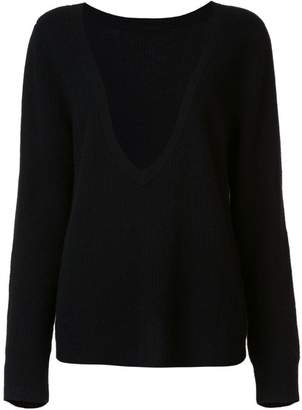 RtA cashmere deep V-neck jumper
