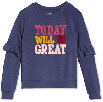 Epic Threads Big Girls Ruffle-Sleeve Sweatshirt, Created for Macy's