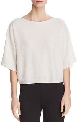 Eileen Fisher Cashmere Cropped Dolman-Sleeve Sweater