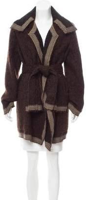 Chanel Alpaca Belted Cardigan