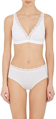 Hanro Women's Maja Stretch-Cotton & Lace Soft Bra - White