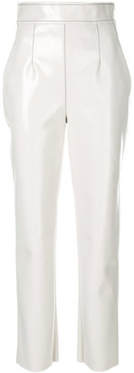 Philosophy Di Lorenzo Serafini high waist faux leather trousers
