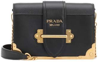At Mytheresa Prada Cahier Leather Shoulder Bag