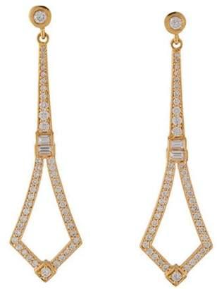 Penny Preville 18K Diamond Drop Earrings rose 18K Diamond Drop Earrings