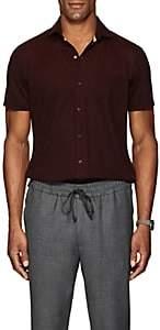 Isaia Men's Wool Piqué Shirt - Red
