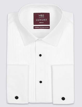 Marks and Spencer Pure Cotton Regular Fit Dinner Shirt