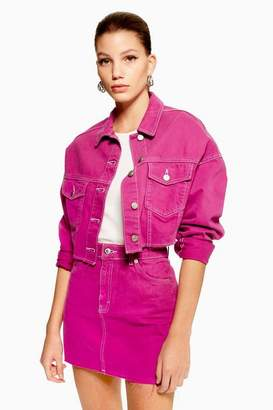 Topshop Purple Denim Jacket