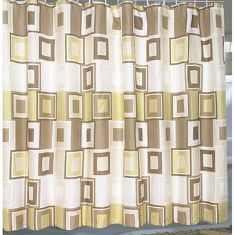 """Carnation Home Fashions Extra Wide """"Contempo"""" Fabric Shower Curtain"""