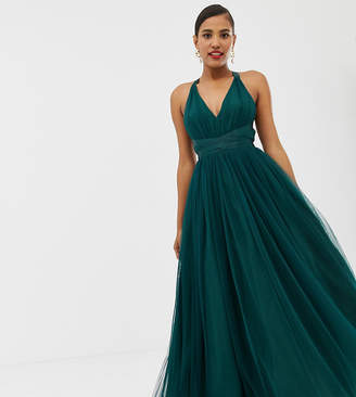 Asos DESIGN Premium Tulle Maxi Prom Dress With Ribbon Ties