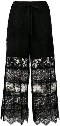 McQ sheer lace trousers