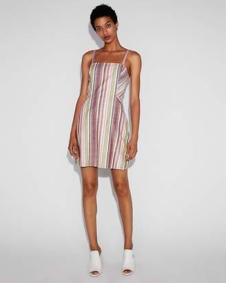 Express Multicolored Stripe Clean A-Line Cami Dress