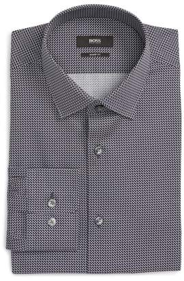 BOSS Marley Sharp Fit Geometric Dress Shirt