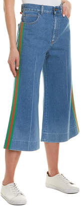 Gucci Amour Blue Wide Leg Crop